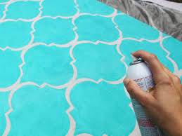 How To Clean Indoor Outdoor Rugs by How To Stencil Paint An Outdoor Rug How Tos Diy