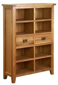 Oak Bookcases With Drawers Besp Oak Vancouver Petite Oak Bookcase Nb011 Designer Furniture Ltd