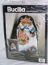 bucilla needlepoint kit 4674 blossom bunny makes 12x16 picture or
