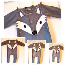 halloween onesies newborn grey fox wolf babygrow boy christmas gift baby fox
