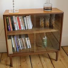 Vintage Bookcase With Glass Doors Retro Low Bookcase Search Stuff Pinterest