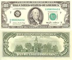 ben franklin hundred dollar bill glossy poster picture photo