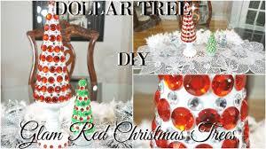 diy dollar tree bling red christmas trees dollar store room