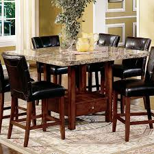 cheap marble top dining table set have to have it steve silver montibello 5 piece marble top counter