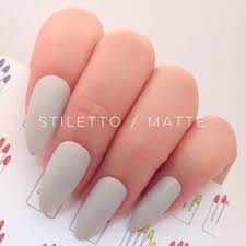 grey stiletto hand painted nail tips press on stick on fake