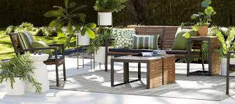 Patio Table And Chairs On Sale Sale On Outdoor Furniture For Patios Decks Crate And Barrel