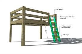 build loft bed full size mattress wooden global