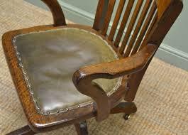 quality edwardian oak antique swivel office chair antiques world