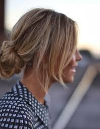 easy messy buns for shoulder length hair the 25 best low messy buns ideas on pinterest low updo low