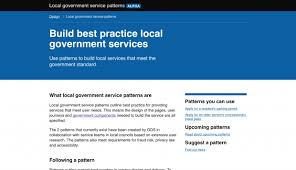 designing the service patterns for local government design