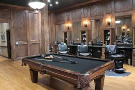Pool Table Boardroom Table Upscale Men U0027s Salon Makes A New Home At Vintage Park Houston