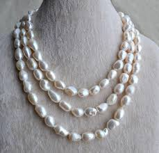 freshwater pearls necklace images Baroque pearl necklace pearl jewelry 55 inches 10 12mm freshwater jpg