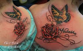 rose name and butterfly tattoo chris hatch tattoo artist u2026 flickr