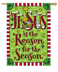 jesus is the reason for the season flag large tina wenke