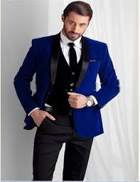 men wedding men wedding groom bespoke blue black velvet 4pc suit coat pant tie