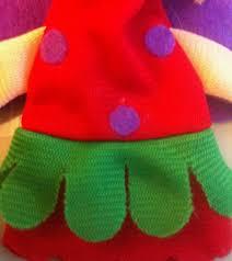 4pcs kids wooden craft of mermaid finger puppets fabric finger