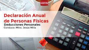 gastos deducibles personas fisicas asalariados 2016 declaración anual de personas físicas deducciones personales