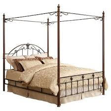 queen canopy bed frame target
