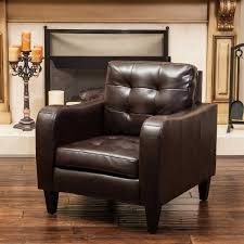 tufted leather chair and ottoman chairs costco