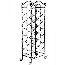 chrome stainless steel wine rack
