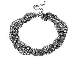 infinity braid bracelet images Statement gunmetal tone crystal rhinestone twist infinity braid jpg