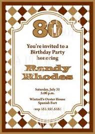 80th birthday invitation wording templates 28 images 80th
