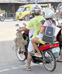 philippine motorcycle riding motorbike with kids lto restrictions on inquirer news