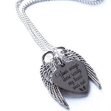 memorial necklace memorial necklace your wings were ready my heart was