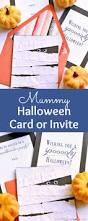 Free Halloween Cards Printable Diy Mummy Halloween Card Or Invitation
