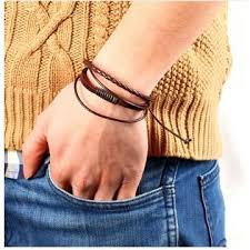 leather wrist strap bracelet images 100 hand women leather strap men bracelet bangle jewelry rope jpg