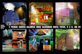 halloween background papers haunted house background papers textures creative market