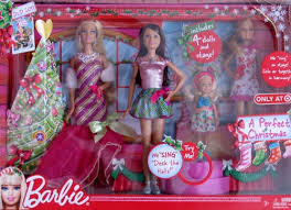 barbie perfect christmas 4 dolls musical stage barbie