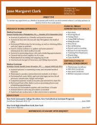 Previous Work Experience Resume Medical Assistant Resume Resume Name