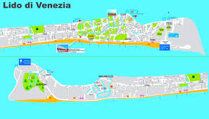 Map Of Venice Beach Lido Di Venezia Tourist Map