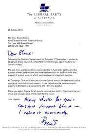 Letter Of Credit In Australia letter from federal director of the liberal the family