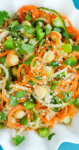 noodle salad recipes thai salad with carrot and cucumber noodles peas and crayons