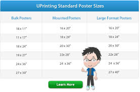 sizes options standard poster sizes for printing design uprinting