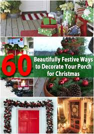 Decorating Banisters For Christmas 60 Beautifully Festive Ways To Decorate Your Porch For Christmas