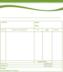 quotation format book bill formats free invoice template