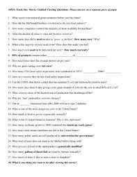 food inc questions 2