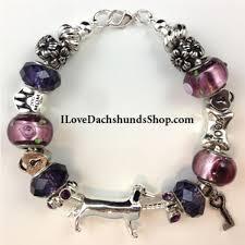 pandora style charm bracelet images Dachshund pandora style charm bracelet purple key to my heart jpg