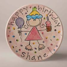 personalized ceramic plate personalized ceramic happy birthday cake plate an affair