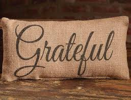 small burlap grateful pillow allysons place