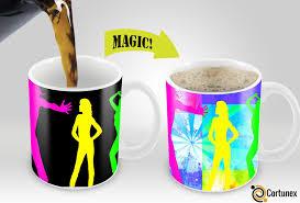 magic mugs amazing new heat sensitive color changing coffee mug