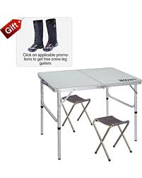 aluminum portable picnic table tis the season for savings on redcamp folding cing table