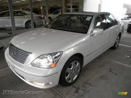 lexus sedans 2005 2005 lexus ls 430 sedan in moonlight pearl 175153 nysportscars