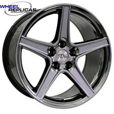 Black Chrome Mustang Rims Black Chrome Saleen Replica Rims For Musangs 18x9 Saleen Style