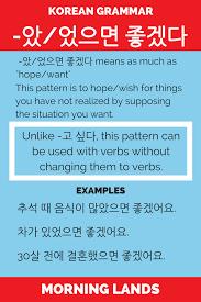 verb pattern of like expression of hope 았 었으면 좋겠다 korean patterns and korean