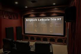 home movie theater screen klipsch lascala trio home theater build complete room tour youtube