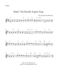 hark the herald angels sing free christmas violin sheet music